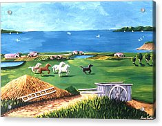 Acrylic Print featuring the painting Ocean Ranch by Lance Headlee