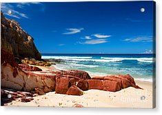 Ocean Rocks Acrylic Print by Boon Mee