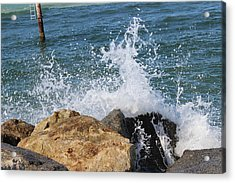 Acrylic Print featuring the photograph Ocean Spray by John Mathews
