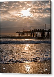Acrylic Print featuring the photograph Ocean Sunrise  by Dawn Romine