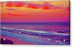 Ocean Sunset 1 Acrylic Print