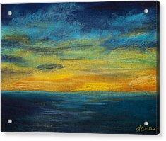 Ocean Sunset Acrylic Print by Dana Strotheide
