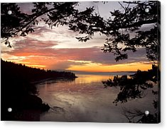 Acrylic Print featuring the photograph Ocean Sunset Deception Pass by Yulia Kazansky