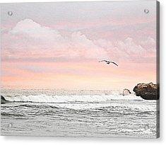 Acrylic Print featuring the photograph Ocean Sunset by Kathy Churchman