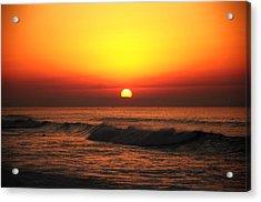 Ocean Sunset Acrylic Print by Manu G