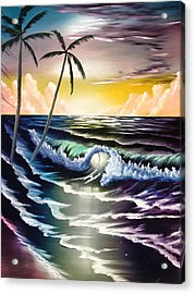 Ocean Sunset Acrylic Print by Koko Elorm