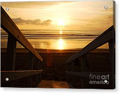 Ocean Sunset Acrylic Print by Micah May