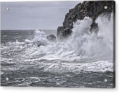 Ocean Surge At Gulliver's Acrylic Print by Marty Saccone