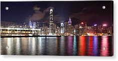 Ocean Terminal With Hong Kong City Skyline Acrylic Print by JPLDesigns