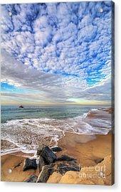 Ocean Touches The Sky Acrylic Print by Eddie Yerkish
