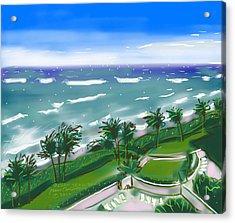 Ocean Trail Beach Acrylic Print