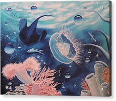 Acrylic Print featuring the painting Ocean Treasures by Dianna Lewis