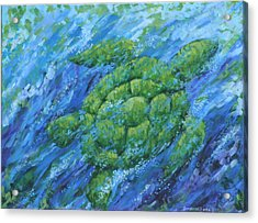 Acrylic Print featuring the painting Ocean Voyager by Penny Birch-Williams