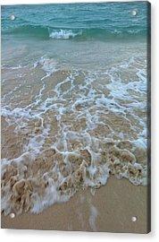 Ocean Wave Caress Acrylic Print