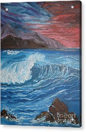 Acrylic Print featuring the painting Ocean Wave by Jenny Lee