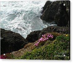 Ocean Wildflowers-2 Acrylic Print by Avis  Noelle