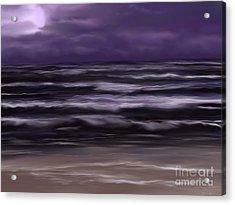 Ocean Night Acrylic Print by Roxy Riou