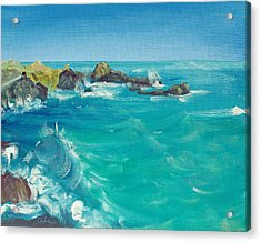Acrylic Print featuring the painting Oceano    by Asha Carolyn Young