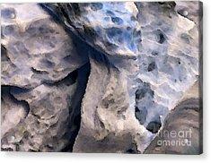 Oceans Edge Acrylic Print by Gwyn Newcombe
