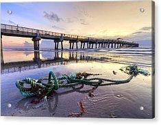 Ocean's Gift Acrylic Print by Debra and Dave Vanderlaan