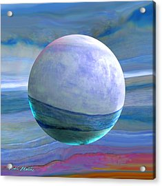 Acrylic Print featuring the painting Oceans by Robin Moline