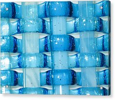 Oceans Woven Glass 2 Acrylic Print by Steven Schramek