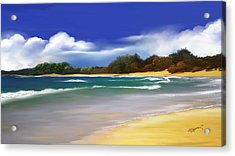 Acrylic Print featuring the digital art Oceanside Dream by Anthony Fishburne