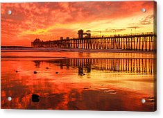 Acrylic Print featuring the photograph Oceanside Fire by Robert  Aycock