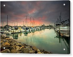 Oceanside Harbor Sunrise Acrylic Print