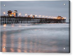 Acrylic Print featuring the photograph Oceanside Pier 1 by Lee Kirchhevel