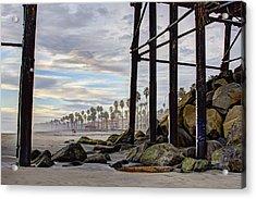 Oceanside Pier Acrylic Print by Ann Patterson