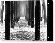 Oceanside Pier In Fog Acrylic Print