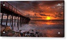 Oceanside Pier Perfect Sunset -ex-lrg Wide Screen Acrylic Print