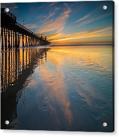 Oceanside Reflections 2 Square Acrylic Print
