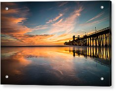 Oceanside Reflections 3 Acrylic Print by Larry Marshall