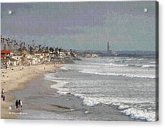 Oceanside South Of Pier Acrylic Print by Tom Janca