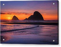 Oceanside Sunset Acrylic Print by Darren  White
