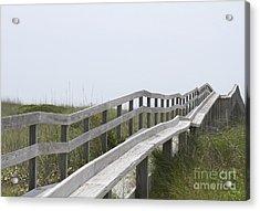 Ocracoke Boardwalk Acrylic Print by Cathy Lindsey