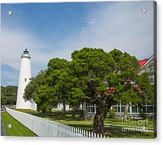 Ocracoke Lighthouse And Light Keeper's House Acrylic Print