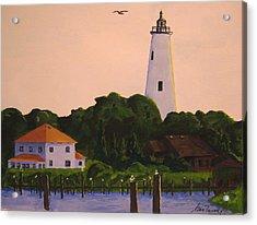 Ocracoke Lighthouse Acrylic Print by Stan Tenney