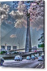 Acrylic Print featuring the photograph Octavio Frias De Oliveira Bridge by Ross Henton
