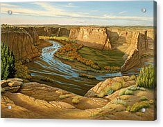October Afternoon- Canyon Dechelly Acrylic Print by Paul Krapf