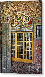 October At Fonthill Castle Acrylic Print by Susan Candelario