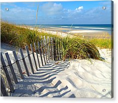 October Beach Acrylic Print by Dianne Cowen