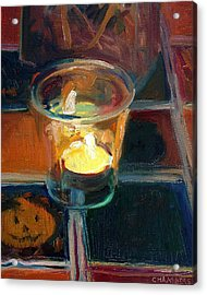 October Candlelight Acrylic Print by Timothy Chambers