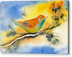 Acrylic Print featuring the painting October Fourth by Anne Duke