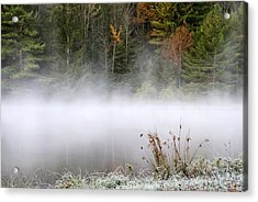October Frost Landscape Acrylic Print by Christina Rollo