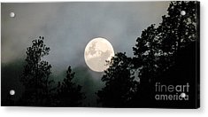 October Full Moon Iv Acrylic Print by Phil Dionne