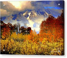 October In Grand Tetons Acrylic Print