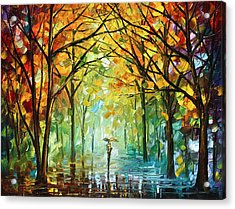 October In The Forest Acrylic Print by Leonid Afremov
